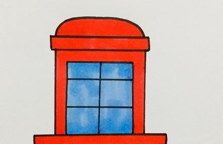 窗户的简笔画怎么画可爱