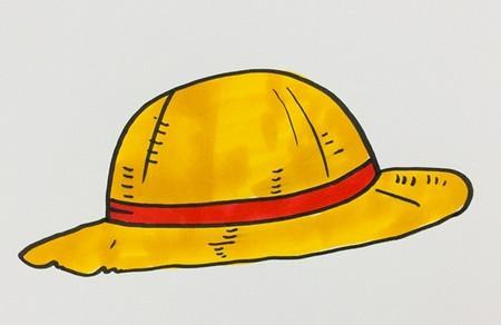 草帽怎么画简笔画步骤