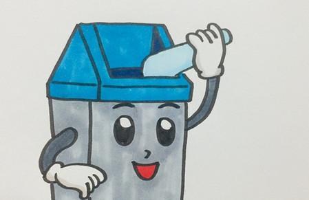 卡通垃圾桶简笔画步骤