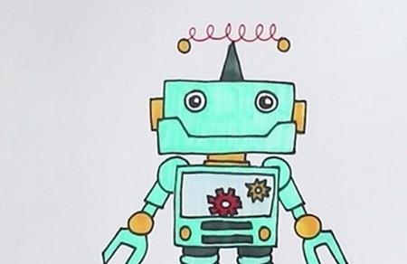 机器人简笔画步骤画法