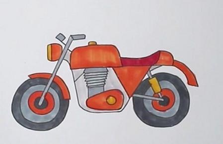 摩托车简笔画简单画法