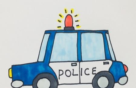 卡通警车怎么画简笔画步骤