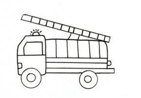 消防车简笔画图片步骤简单