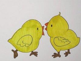 如何画小鸡简笔画步骤