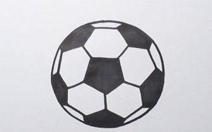 足球简笔画步骤图解