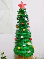 几分钟圣诞树手工制作方法