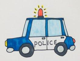 卡通警车简笔画怎么画步骤