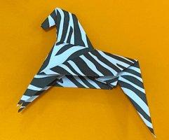 斑马折纸步骤图解法